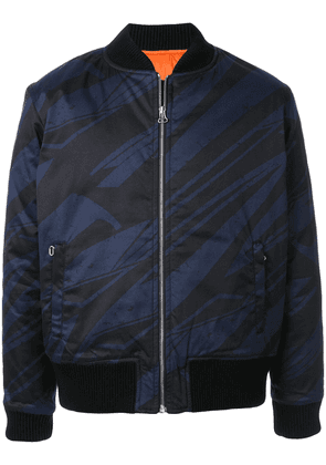 Band of Outsiders Spaceship striped bomber jacket - Blue