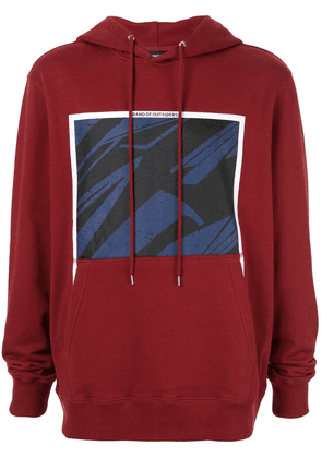Band of Outsiders Spaceship print hoodie - Red