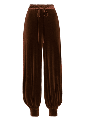 Gucci velour logo tracksuit trousers - Brown