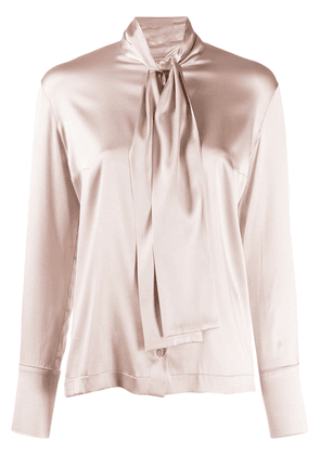 D.Exterior pussy bow blouse - PINK