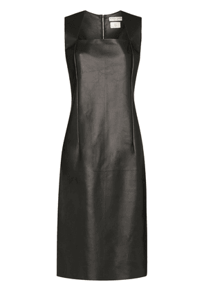 Bottega Veneta Fitted leather dress - Black