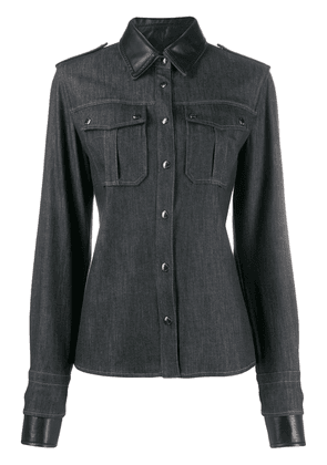 Tom Ford panelled denim shirt - Black