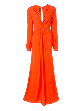 Ginger & Smart Orphic knot-detail gown - Red