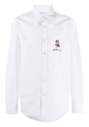 ALEXANDER MCQUEEN rose embroidery shirt - White