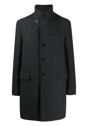Fay funnel neck single-breasted coat - Grey