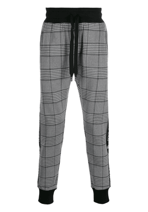 Dolce & Gabbana Prince of Wales side panel track pants - Black