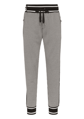 Dolce & Gabbana houndstooth check jogging trousers - Grey