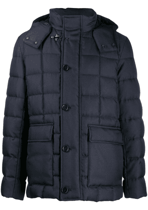 Fay padded zip-front jacket - Blue