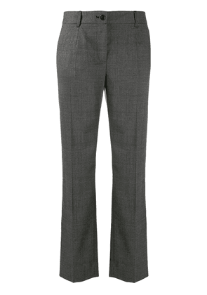 Dolce & Gabbana straight-leg houndstooth trousers - Grey