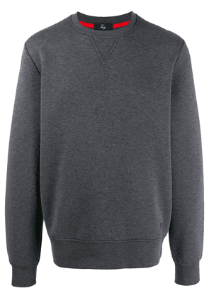 Fay embroidered logo sweater - Grey
