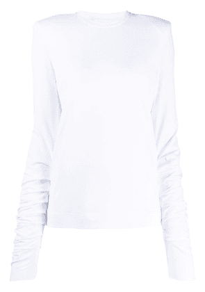 Circus Hotel ruched sleeve T-shirt - White
