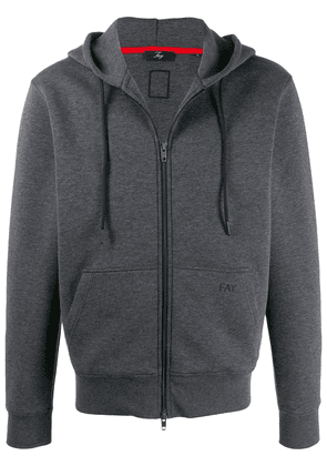 Fay embroidered logo hoodie - Grey