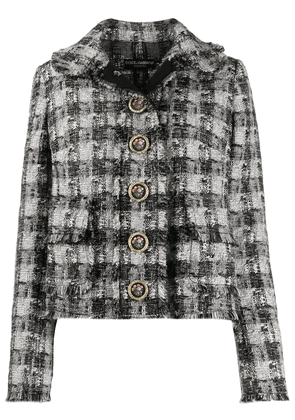 Dolce & Gabbana checked tweed jacket - Black