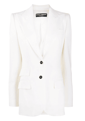 Dolce & Gabbana double flap pocket blazer - White