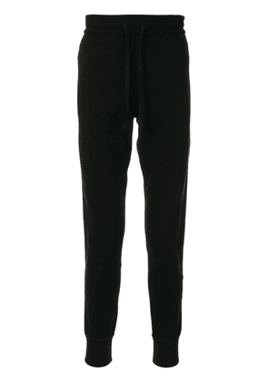 Dolce & Gabbana cuffed stripe-detail track pants - Black
