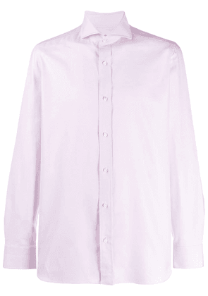 Borrelli long-sleeve fitted shirt - PINK