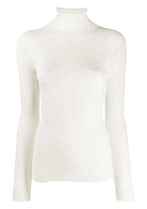 Gucci ribbed roll neck knitted top - White