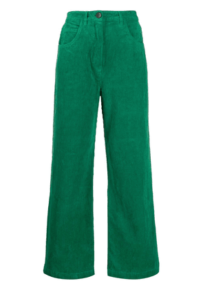 Cotélac corduroy flared trousers - Green