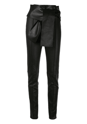 Valentino VLTN slim leather trousers - Black