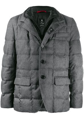 Fay button-up padded jacket - Grey
