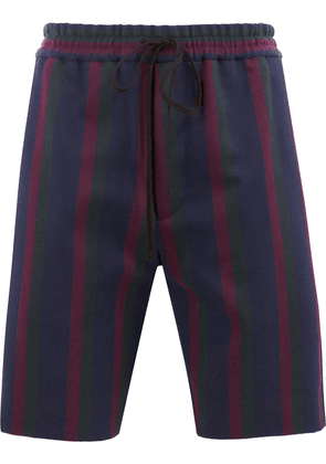 Gucci striped knee-length shorts - Blue