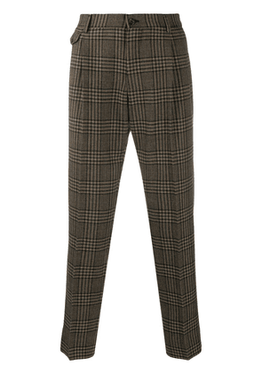 Dolce & Gabbana checkered cropped trousers - Brown