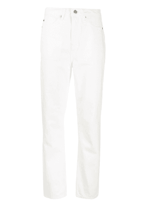 Cotélac high-rise tapered jeans - White