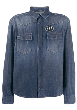 Neil Barrett denim shirt - Blue