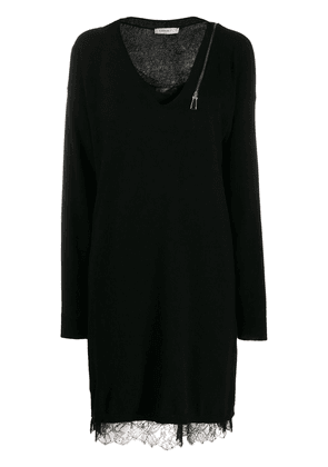 Twin-Set layered knitted dress - Black
