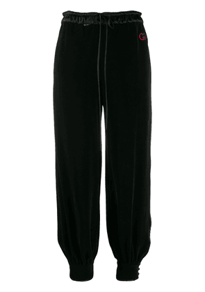 Gucci tapered wide-leg trousers - Black