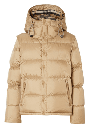 Burberry detachable sleeve puffer jacket - NEUTRALS