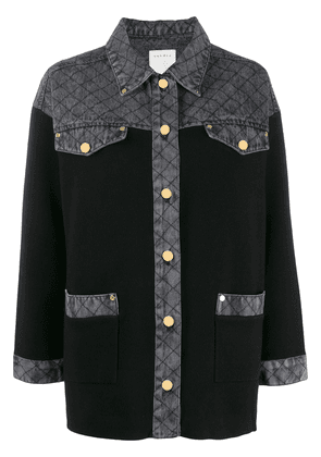 Sandro Paris contrasting collar shirt - Black