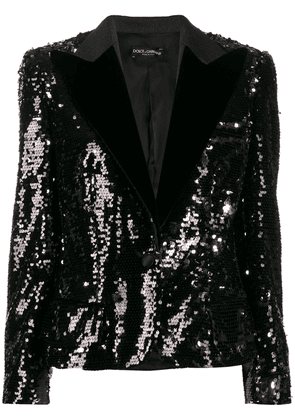 Dolce & Gabbana sequin embroidered blazer - Black