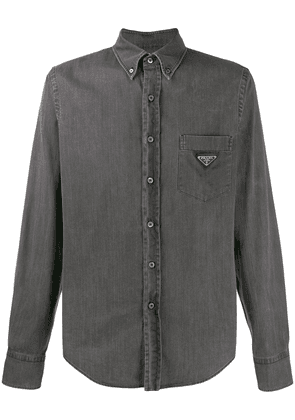 Prada button-down denim shirt - Black