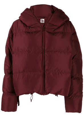 Bacon cropped puffer jacket - Red