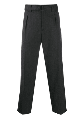 Valentino belted tailored trousers - Grey