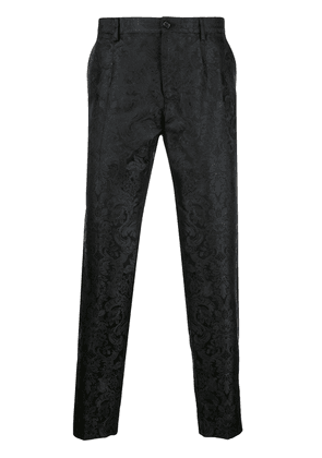 Dolce & Gabbana floral print chinos - Black