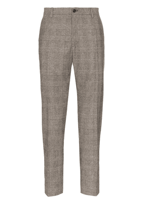 Dolce & Gabbana check wool trousers - Brown