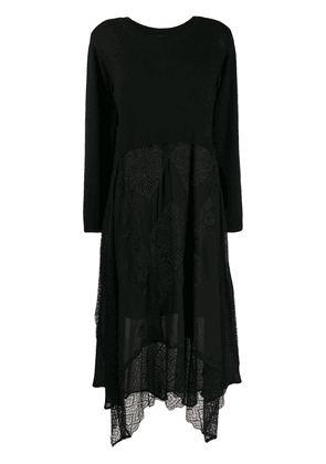 Twin-Set layered jumper dress - Black