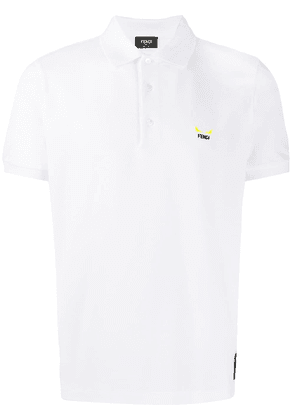 Fendi embroidered logo polo shirt - White
