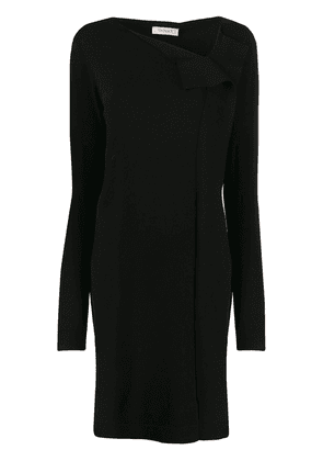 Twin-Set asymmetric neck sweater dress - Black