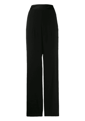Balmain buttoned flared crepe trousers - Black