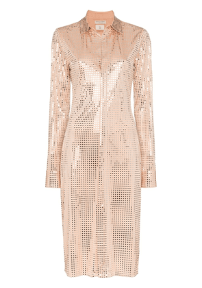 Bottega Veneta sequinned shirt dress - NEUTRALS