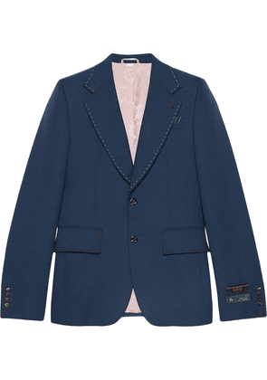 Gucci Drill jacket with stitching - Blue