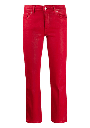 7 For All Mankind cropped denim jeans - Red