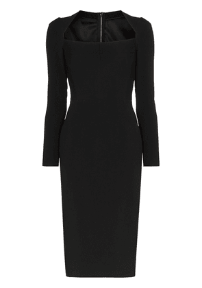 Dolce & Gabbana scoop neck fitted midi dress - Black
