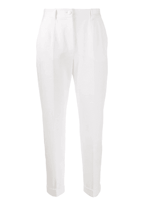 Dolce & Gabbana high-rise cropped trousers - White
