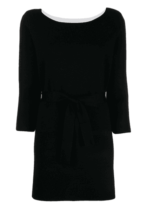 Twin-Set two-tone logo charm knitted dress - Black