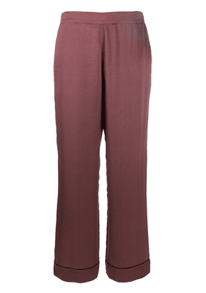 Asceno dotted silk pajama bottoms - Red
