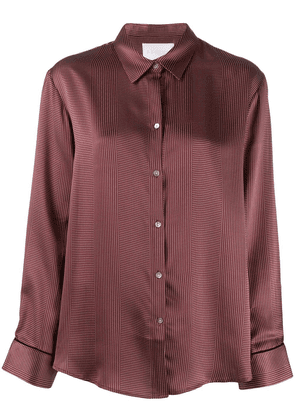 Asceno dotted silk pajama top - Red